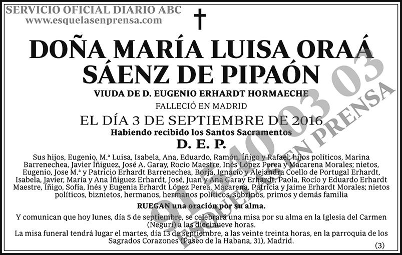 María Luisa Oraá Sáenz de Pipaón